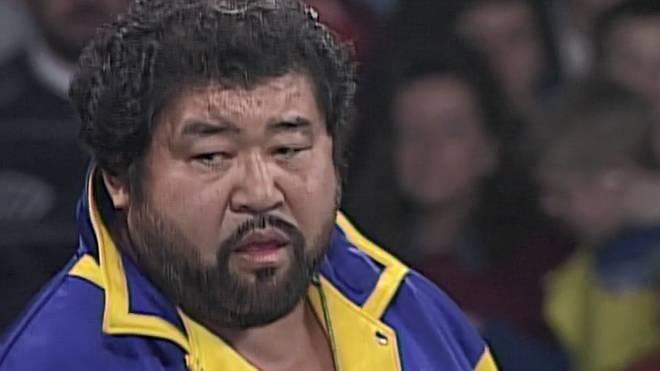 Masa Saito bei seinem letzten großen US-Auftritt bei WCW Starrcade 1995