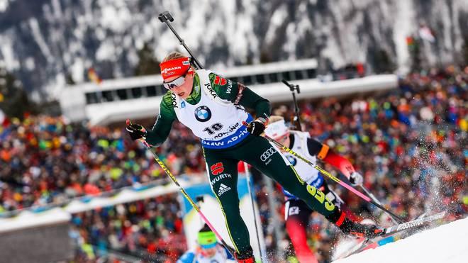 Franziska Hildebrand wird als Dritte des Sprints aussichtsreich in die Verfolgung starten