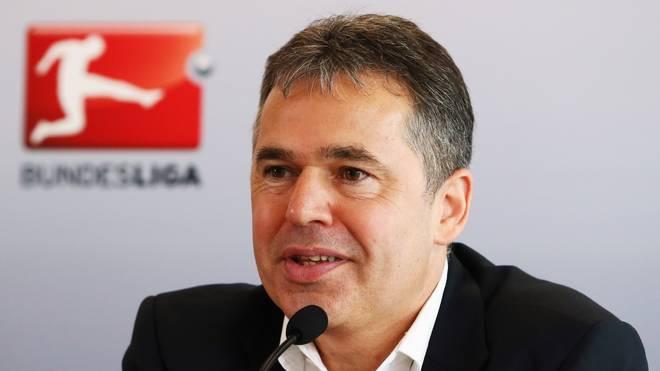 DFL-Geschäftsführer Andreas Rettig lacht