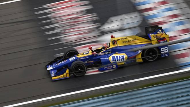 Alex Rossi fuhr zu seinem zweiten IndyCar-Sieg, dem ersten auf einem Rundkurs