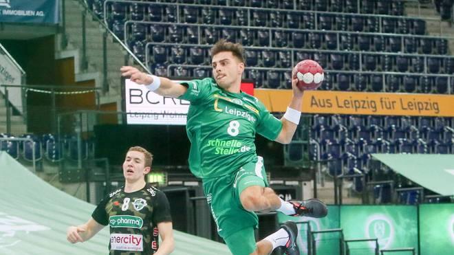 Lucas Krzikalla erzielte sechs Tore für Leipzig gegen Hannover-Burgdorf