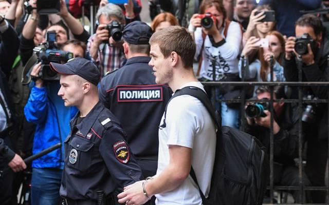 Unter großem medialen Interesse wird im Mai 2019 der Prozess gegen Alexander Kokorin und Pawel Mamajew verfolgt.