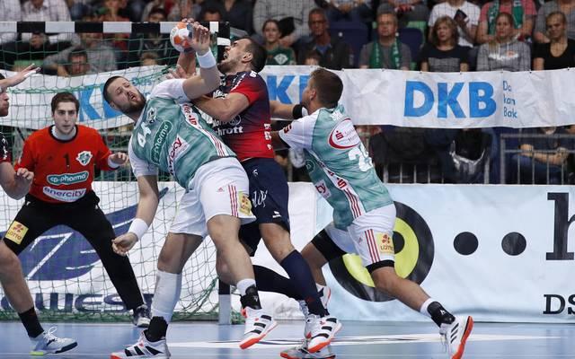 Die TSV Hannover-Burgdorf (grün) drehte das Spiel gegen die SG Flensburg-Handewitt