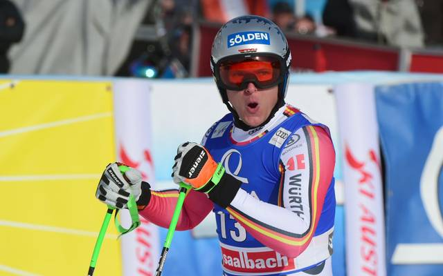 SAALBACH, AUSTRIA - FEBRUARY 13 : Thomas Dressen of Germany takes 1st place during the Audi FIS Alpine Ski World Cup Men's Downhill on February 13, 2020 in Saalbach Austria. (Photo by Alain Grosclaude/Agence Zoom/Getty Images)