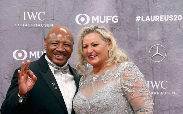 Marvelous Marvin Hagler mit Frau Kay bei den Laureus Awards 2020