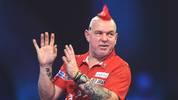 Peter Wright will bei der Darts-WM ins Viertelfinale einziehen