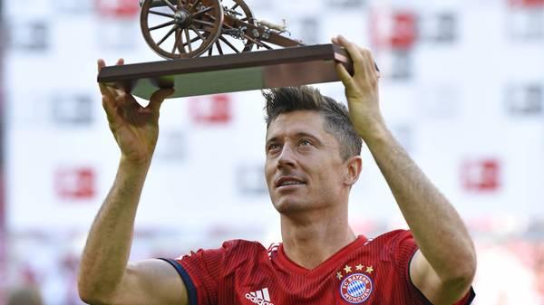 Robert Lewandowski holt sich nach 2014, 2016 und 2018 zum vierten Mal die Torjäger-Kanone. Der Stürmer des FC Bayern triumphiert vor Paco Alcácer. SPORT1 zeigt die besten Knipser der Bundesliga
