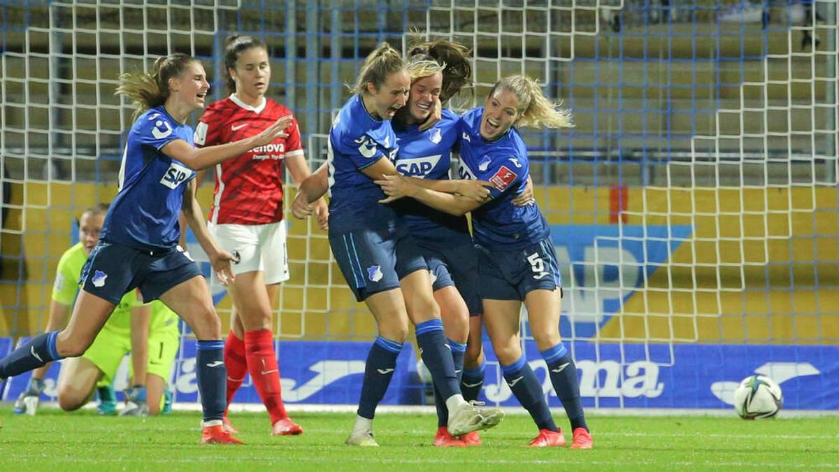 Die Frauen der TSG Hoffenheim gewannen gegen den SC Freiburg