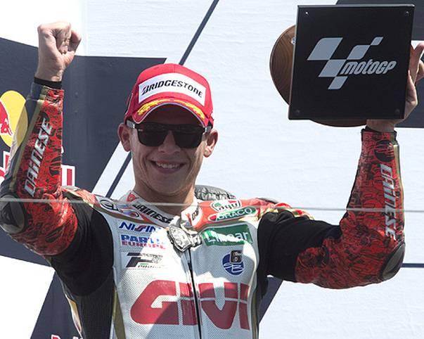 Da ist das Ding: Stefan Bradl schreibt in den USA Geschichte. Nach 24 Jahren steht erstmals wieder ein Deutscher Pilot in der MotoGP auf dem Podest. Für Bradl geht mit dem Podiumsplatz ein Traum in Erfüllung