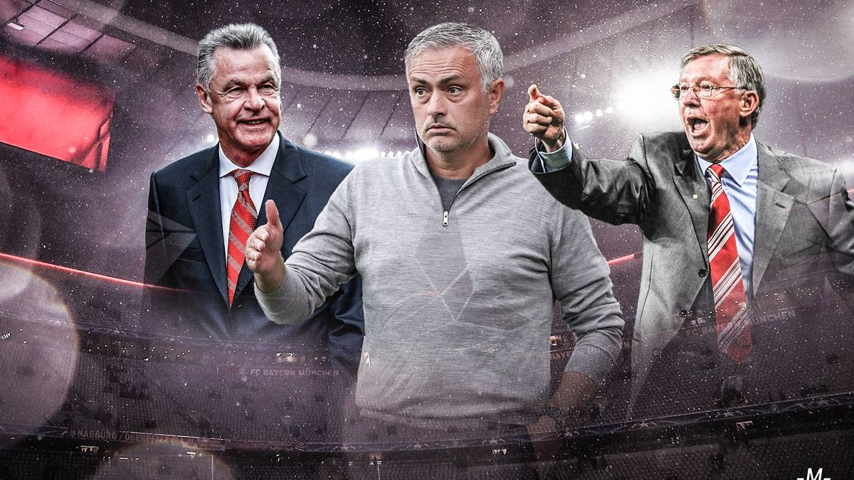 Die besten Trainer der Fußball-Geschichte mit Hitzfeld, Guardiola, Mourinho, Ferguson