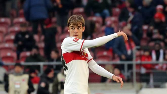 Bundesliga: Borna Sosa von VfB Stuttgart greift Trainer Weinzierl an