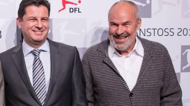 Wolfgang Holzhäuser (r.) wäre einer Frau als Nachfolgerin für DFL-Boss Christian Seifert nicht abgeneigt