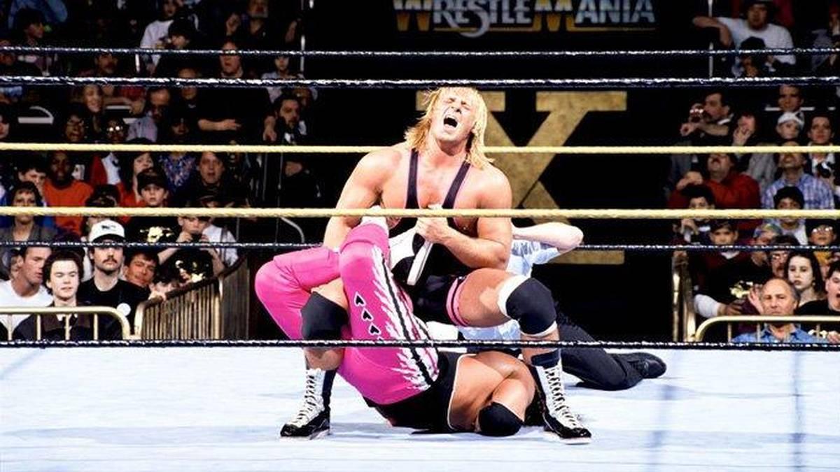 Owen Hart besiegte bei WrestleMania X im Jahr 1994 seinen Bruder Bret Hart