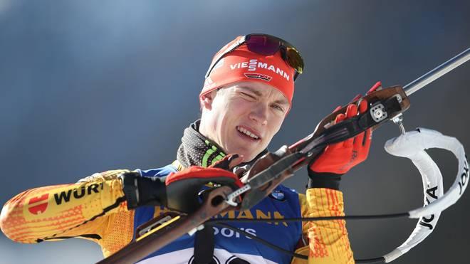 Benedikt Doll schoss bei der Biathlon-WM in den ersten Rennen zu viele Fehler