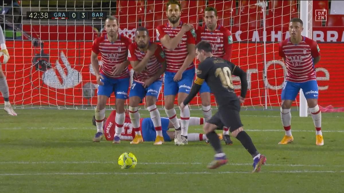 Torwart düpiert! Schlitzohr Messi bricht seinen Freistoß-Bann