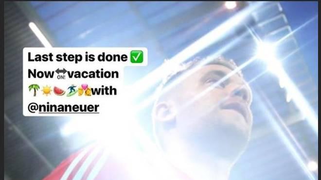 Manuel Neuer verabschiedet sich in den Urlaub