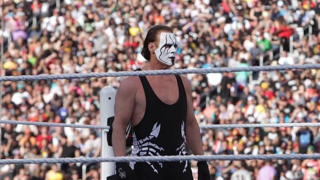 Sting bei der vergangenen WWE WrestleMania 31 im März 2015