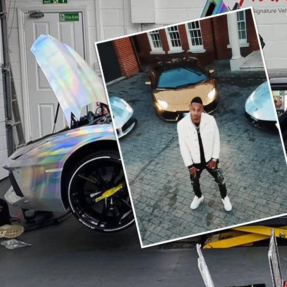 Hologramm-Style: Aubameyang pimpt seinen Lamborghini