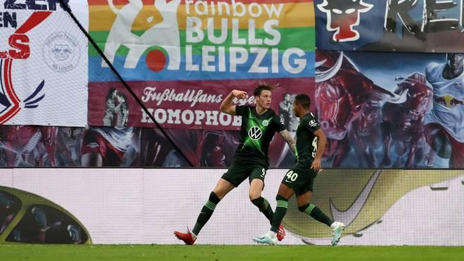 Wout Weghorst rettet dem VfL Wolfsburg in Leipzig einen Punkt