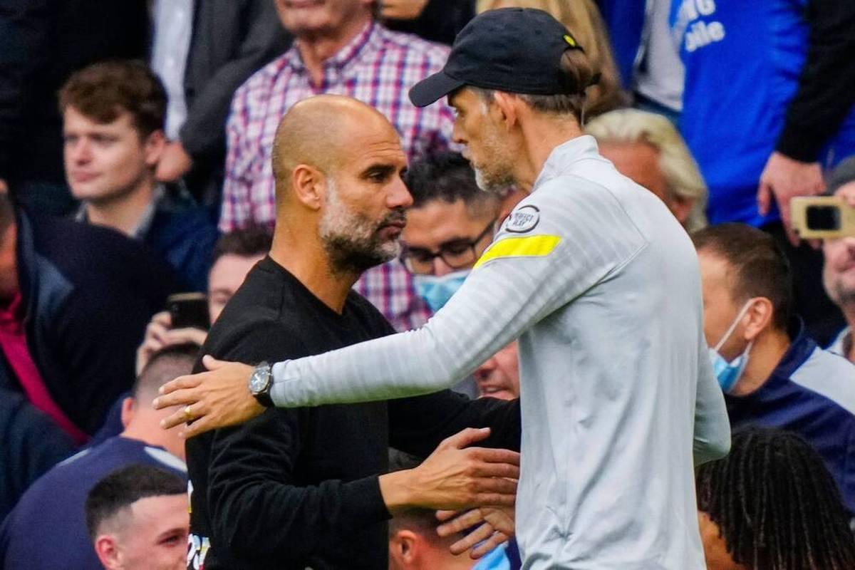 """Chelsea-Coach Thomas Tuchel äußert sich zur """"Salzstreuer-Schlacht"""" mit Pep Guardiola in München. Für den Deutschen war es ein """"reines Vergnügen""""."""