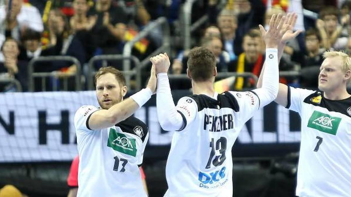 Patrick Wiencek (r.), Steffen Weinhold (l.) und Hendrik Pekeler sind zurück im DHB-Team