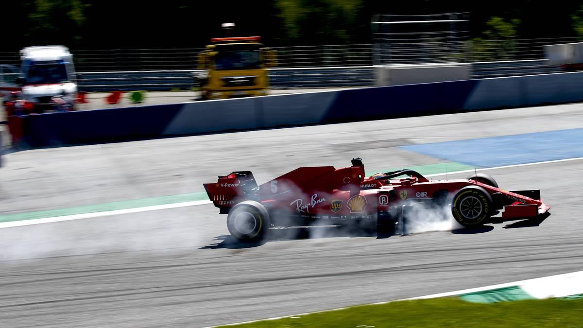 Sebastian Vettel katapultierte sich mit einem Dreher im Feld nach hinten
