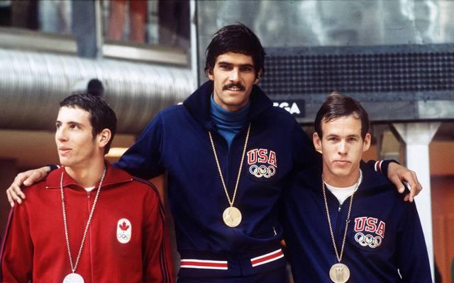 Mark Spitz gewann bei Olympia 1972 in München sieben Goldmedaillen