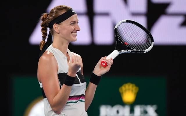 Petra Kvitova steht nach dem Triumph gegen Danielle Collins im Finale der Australian Open