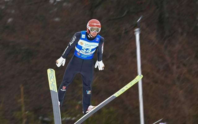 Markus Eisenbichler landete in der Qualifikation zum Weltcup in Willingen auf Platz drei