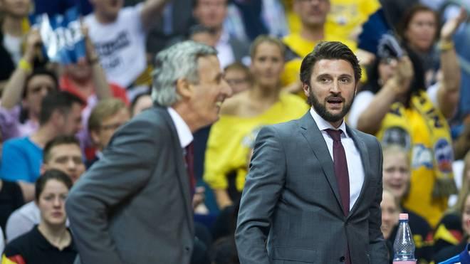 Svetislav Pesic (l.) und Marko Pesic (r.) arbeiteten beim FC Bayern zusammen