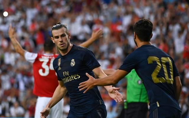 Real Madrid: Marco Asensio zieht sich Kreuzband- und Meniskusriss zu, Gareth Bale (links) und Marco Asensio bejubeln einen Treffer von Real Madrid