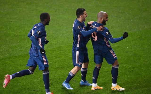 Alexandre Lacazette trifft doppelt gegen Slavia