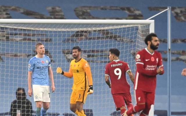 Kevin De Bruyne (l.) schoss gegen Liverpool einen Strafstoß am Tor vorbei