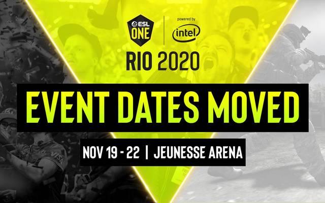 Die ESL One Rio 2020 wird in den November verlegt
