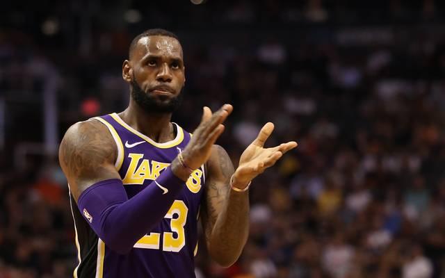 LeBron James erzielte beim Sieg seiner Los Angeles Lakers gegen die Utah Jazz 22 Punkte