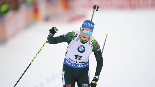 Franziska Preuß darf sich über ihren ersten Weltcup-Sieg freuen