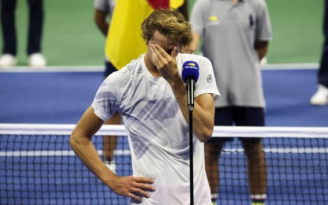 Alexander Zverev wurde nach der Final-Niederlage von seinen Emotionen übermannt