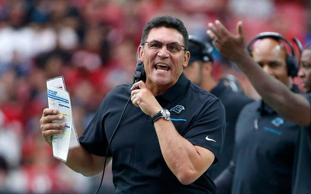 Coach Ron Rivera trainierte vor den Washington Redskins die Carolina Panthers