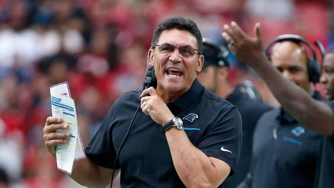 Coach Ron Rivera trainierte vor den Washington Redskins die Carolina Panthers
