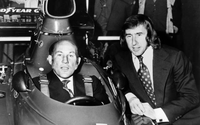Zwei Legenden unter sich: Stirling Moss und Jackie Stewart