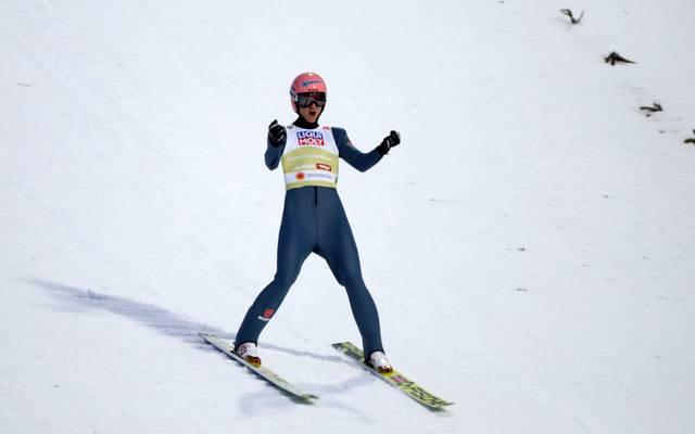 Karl Geiger sprang in Nischni Tagil auf den zweiten Platz