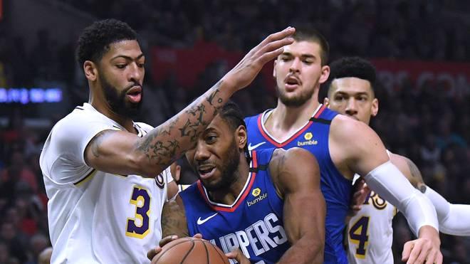 Kawhi Leonard (2.v.l.) und die Los Angeles Clippers zählen neben den Lakers zu den großen Titelfavoriten