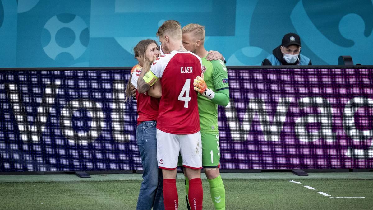 Nicht nur das dänische Team zeigte sich bestürzt angesichts des Dramas um Christian Eriksen