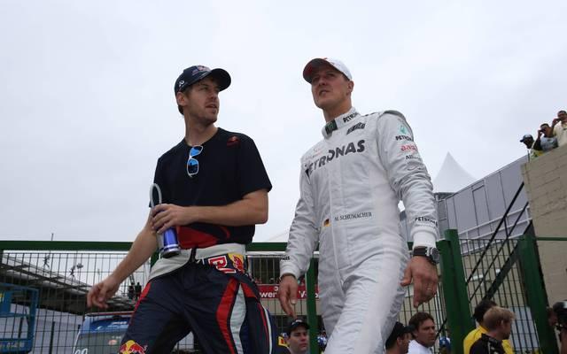 Sebastian Vettel wollte die Rekorde von Michael Schumacher retten