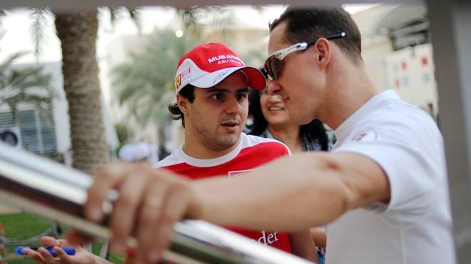 Felipe Massa (l.) und Michael Schumacher feierten 2006 gemeinsame Erfolge bei Ferrari
