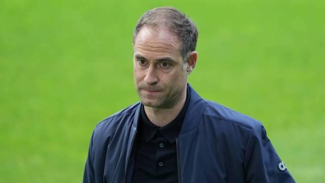 Oliver Mintzlaff (RB Leipzig) muss mit dem Fahrrad zum Pokalfinale nach Berlin