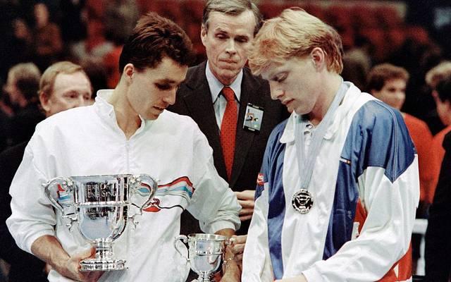 Ivan Lendl und Boris Becker 1986