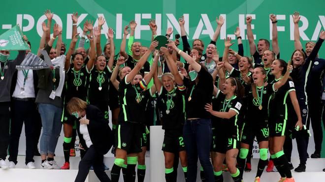Der VfL Wolfsburg holte zum vierten Mal in Folge das Double