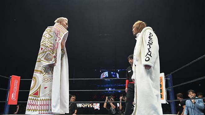Kazuchika Okada (l.) und Tetsuya Naito waren Headliner bei Wrestle Kingdom in Tokio