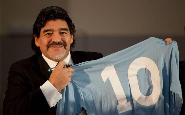 Diego Maradona spielte von 1984 bis 1991 beim SSC Neapel